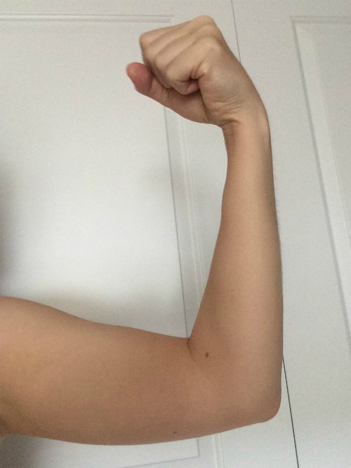 My girly biceps raised in protest.